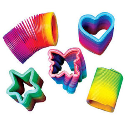 Mini Rainbow Magic Spring Toy 1.5 Inch - Pack of 5 - Shapes and Colors Vary