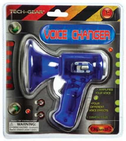 Blue Mini Voice Changer/Amplifier - 4 Different Voice Effects