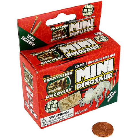 Mini Dinosaur Excavation Kit Glow In Dark Paleontology