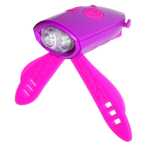 Mini Hornit Bicycle Horn and Light - Purple