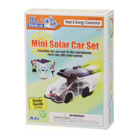 Mini Solar Car Set Kit and Study Guide By Artec