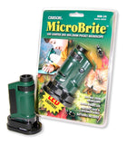 MicroBrite LED Lighted 20X-40X Zoom Pocket Microscope