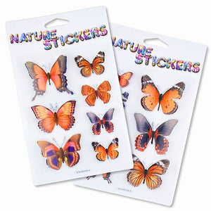 Monarch Butterfly 3D Nature Stickers Assortment Pack of 2