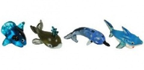 Looking Glass Torch - Ocean Figurines - SunFish, Whale, Narwhal & Shark (4-Pack)