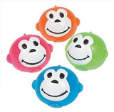 Neon Monkey Splat Ball Novelty Squishy Stress Relief Toys - Pack w 4 Colors