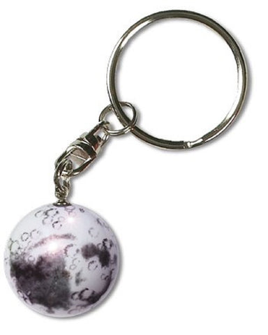 Moon Marble Iridescent Glass Pendant Keychain - 1 Inch (25mm)