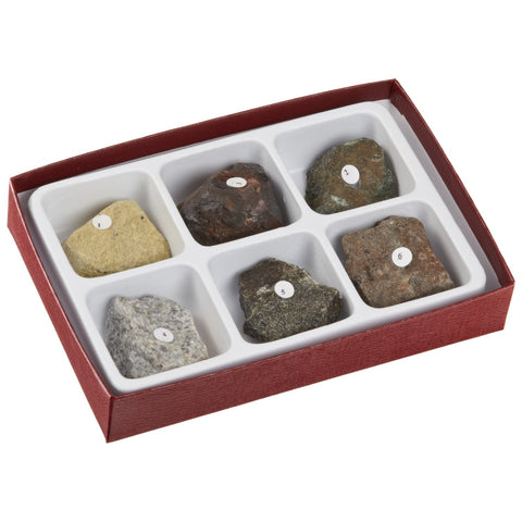 Moon Rock Simulation Kit 6 Piece Lunar Mineral Collection