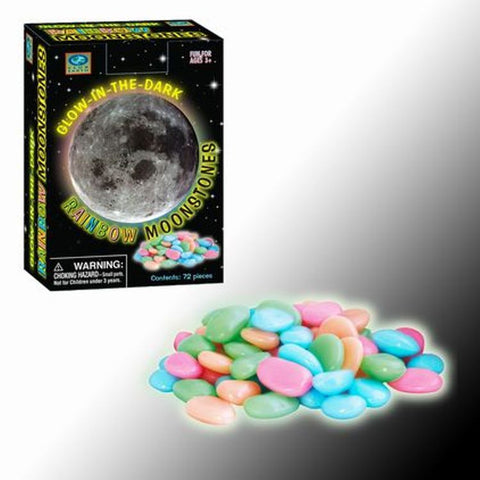 Club Earth - Glow in the Dark - Rainbow MoonStones - 72 Pieces