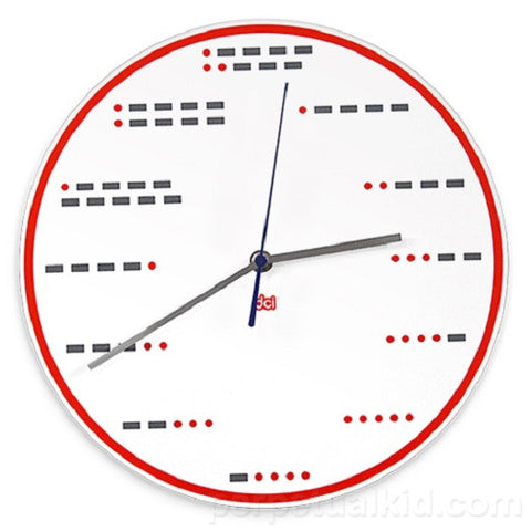 Morse Code Wall Clock by Decor Craft