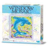Window Mosaic Art Dolphin 4M Art / Craft Kit