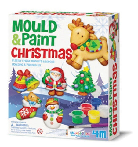 Mold & Paint Christmas 4M Plaster Fridge Magnet & Decoration Art Kit