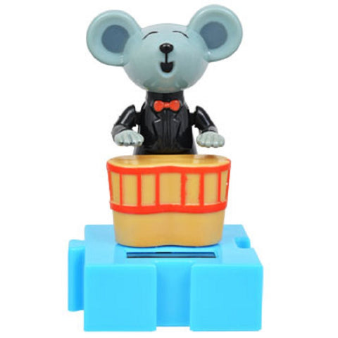 Solar Powered Mouse Musician Connectable Dancing Animal