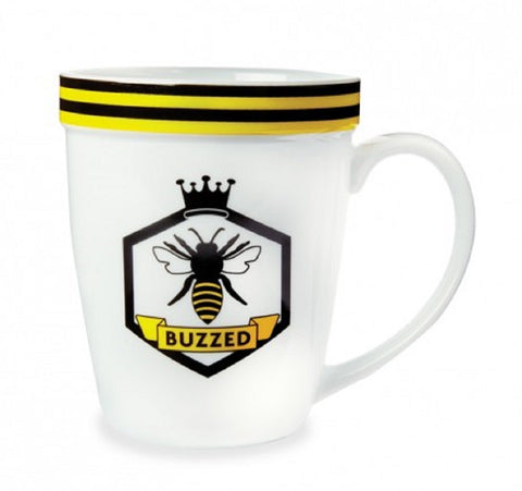 Buzzed - Ceramic Honey Bee Coffee Mug Tea Cup
