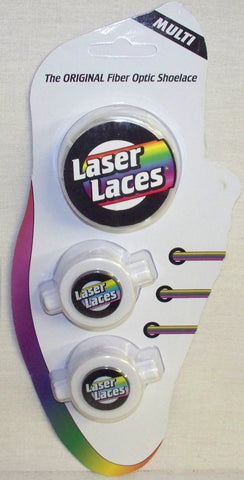 1 Pair MULTI Colored Original Laser Laces Fiber Optic Neon LED Shoelaces - Online Science Mall
