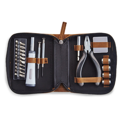 Members Only Multi-Tool Kit 21pc w/ Brown Faux Leather Case