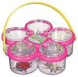 Kid's Bug Catching Set- 10 Items including Net, Containers & Magnifying Glasses