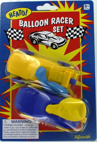 Air Powered Balloon Racer Cars - Pack of 5 Sets