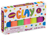 Neon Mini Clay 6 Bright Colors Pack of 10