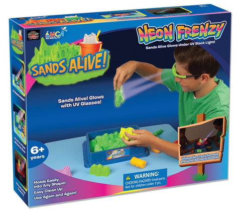 Sands Alive! Neon Frenzy Kit w/Tools & UV Sand