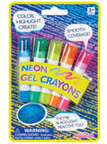 Neon Gel Crayons Set of 5 Colors By Toysmith