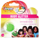 Glimmer Body Art - Neon Green Body Glitter