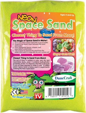Neon Yellow Space Sand: 1lb of Hydrophobic Sand