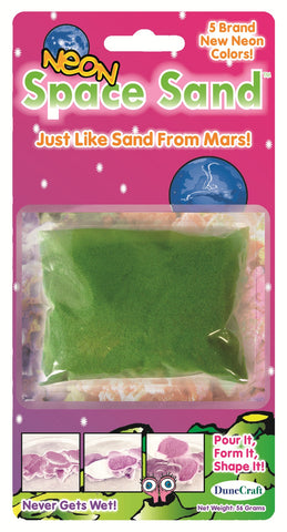 Neon Green Space Sand: 2oz of Hydrophobic Sand