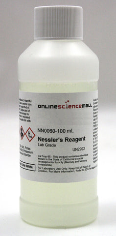 Nessler's Reagent Solution, 100mL - Lab Grade Chemical Reagent