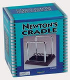 Newtons Cradle Kinetic Energy Physics 4.5 Inces Tall on Black Base