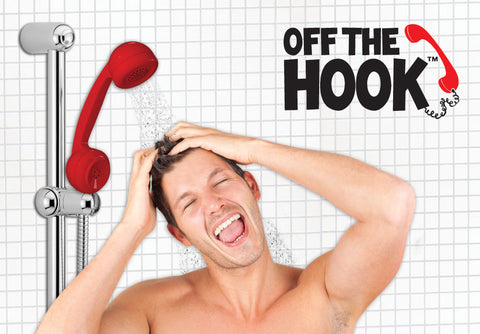 Off The Hook -  Phone Shaped Shower Head