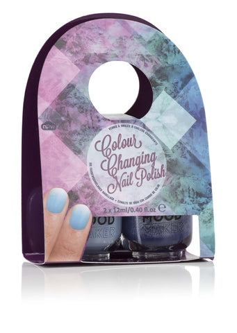 Wonderland Color Changing Nail Polish - Glitter Purple & Frost Blue