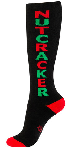 Nutcracker Socks - Black Unisex Knee Socks