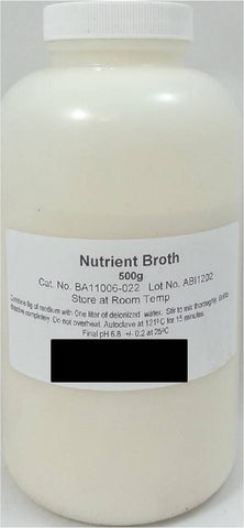 500g Bottle of Dehydrated Nutrient Broth Powder