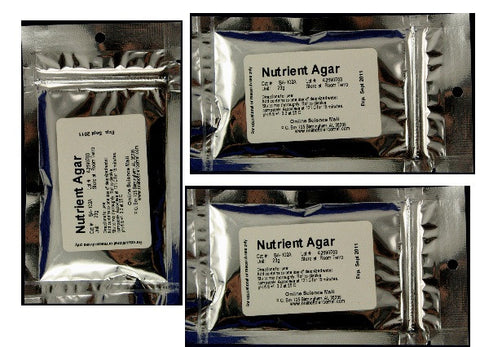 23g of Dehydrated Nutrient Agar Powder (3pk) - Each Makes 1 Liter of Agar Solution