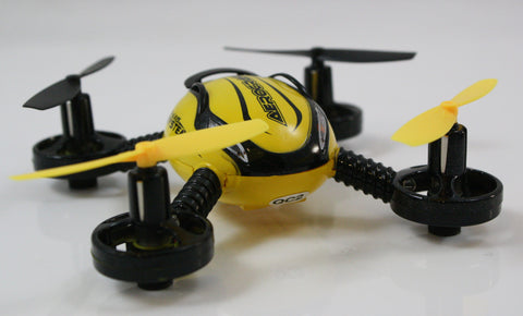 Mini QR-4 Aerocraft Quadrocopter Remote Control RC Drone, Yellow