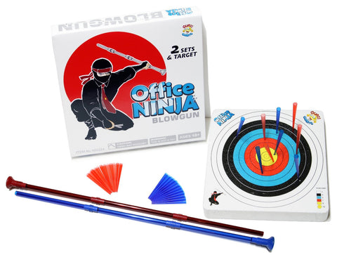 Office Ninja Blowgun 2 Sets with Darts and Target