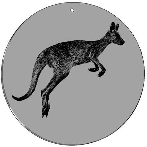 Kangaroo - Medium 5.5 Inch CineSpinner - Animated Suncatcher