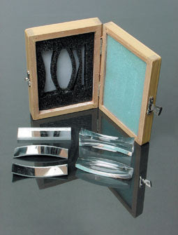 Optics Lens Demonstration Glass Set: of 5 Mirrors and Acrylic Lenses