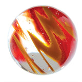 16mm Handmade Art Glass Flashlight Marbles Set of 3 w/Stands