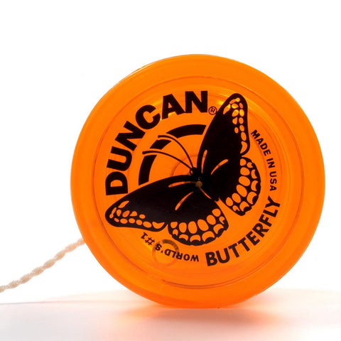 Genuine Duncan Butterfly Yo-Yo Classic Toy - Orange
