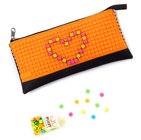 "Orange ""Pixit Pouch"" Customizable Pencil Pouch Bag By Cassidy Labs"