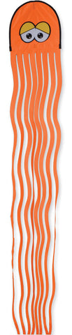 Squeaker the Orange Octopus Kite 10.5 Feet Long
