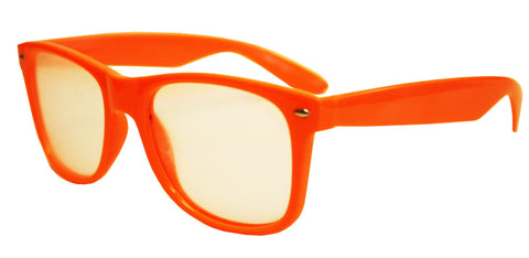 Stylish Orange Diffraction Fireworks Prism Glasses