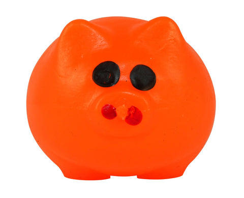 Splat Ball Novelty Squishy Toy Orange Pig