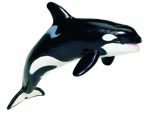 Orca Killer Whale Lifelike Rubber Wildlife Replica 6.5 Inches