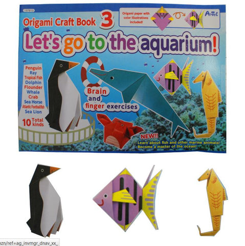 Origami Craft Book 3 Aquarium - 10 Templates By Artec
