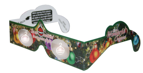 Holographic Glasses: 3D Ornament at Every Bright Point of Light