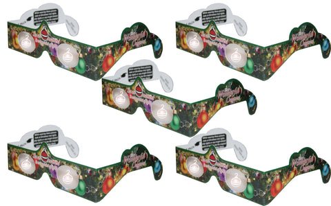 Holographic Glasses: 3D Ornament at Every Point of Light - 5 Pack