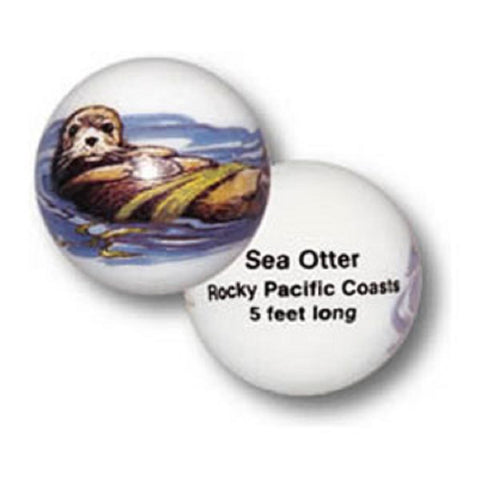 Sea Otter Animarbles Set of 2 - 25mm Educational Marbles w Stands