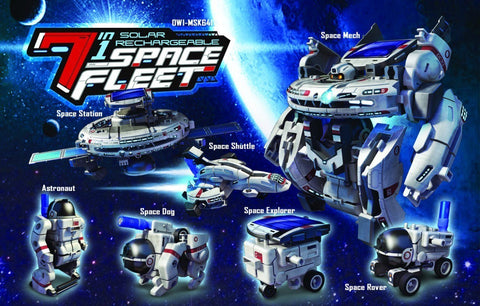 7-in-1 Educational Solar Rechargeable Space Fleet, by OWI